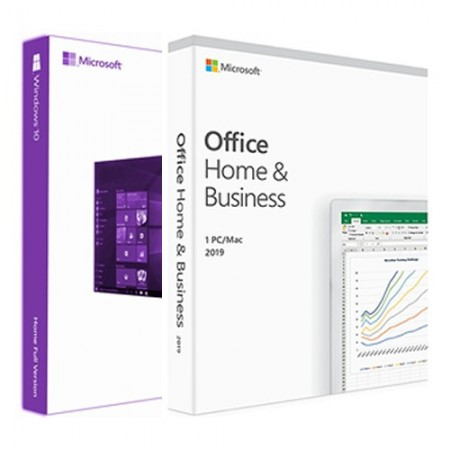 Windows 10 Pro Retail BOX + Microsoft Office 2019 Home and Business FPP BOX