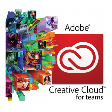 Adobe Creative Cloud for teams All Apps with Adobe Stock, 1 user, subscriptie anuala
