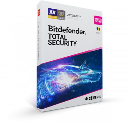 Bitdefender Total Security 2021, 3 dispozitive, 1 an - Licenta BOX