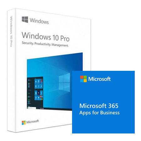 Pachet Microsoft Windows 10 Pro, 32/64-bit, Engleza, Retail/FPP, USB + Microsoft 365 Apps for Business
