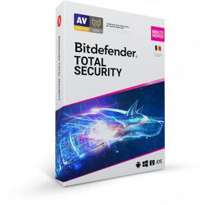 Bitdefender Total Security 2021, 5 dispozitive, 1 an - Licenta Electronica