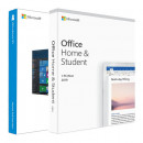 Microsoft Office Home and Student 2019 PC/MAC, Engleza (licenta electronica) + Microsoft Windows 10 Home, 32/64 bit, Engleza, Retail, USB