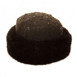 Poze Caciula iarna dama stil boucle, culoare negru