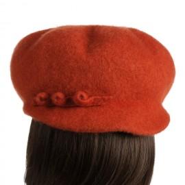 Poze Sapca din lana,portocaliu.Alura feminina.