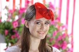 Poze Voaleta catifelata rosie