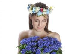 Poze Coronita cu flori si frunze