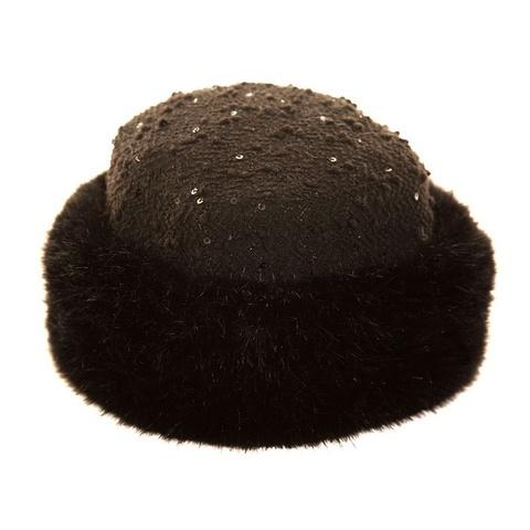 Caciula iarna dama stil boucle, culoare negru