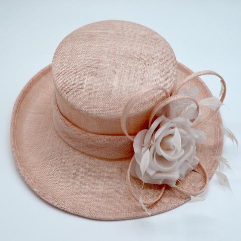 Palarie dama eleganta, culoare bej-roz.