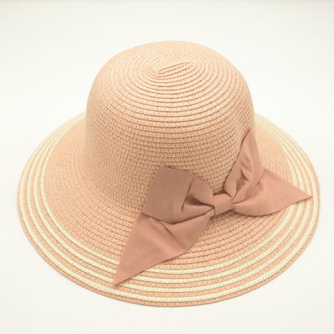 Pălarie roz cu fundă