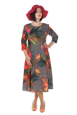 Rochie cu imprimeu exotic