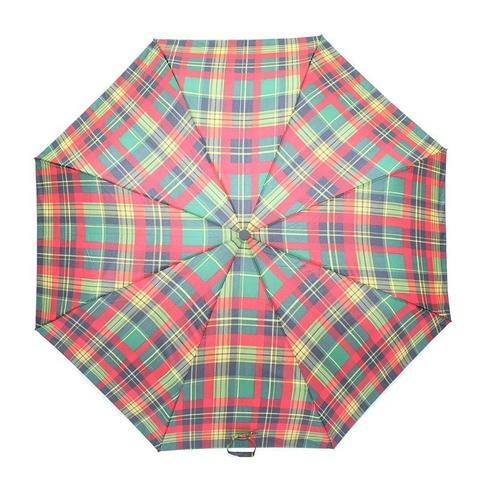 Umbrela cu model cadrilat pe rosu