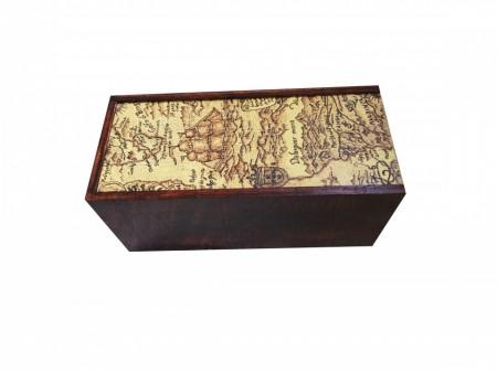 Cutie din lemn de fag, pentru vin