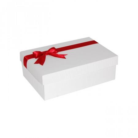 Cutie cadou alb - rosu