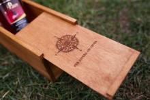 Cutie cadou din lemn de brad, personalizata
