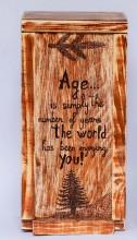 Cutie cadou din lemn de brad, handmade, personalizata