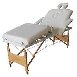 Poze Masa masaj plianta - 4 sectiuni Lemn Alb