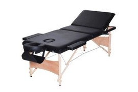 Poze Masa masaj plianta - Lemn 3 Negru