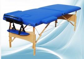 Poze Masa masaj 2 sectiuni - Pliabila si portabila - structura Lemn - Albastru
