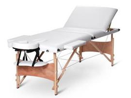Poze Masa masaj plianta - 3 sectiuni Lemn Alb
