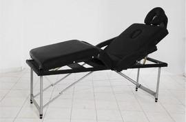 Poze Masa masaj plianta - 4 sectiuni Aluminiu Negru
