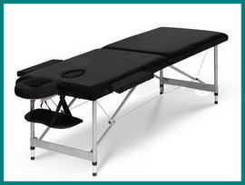 Poze Pat masaj 2 sectiuni - - masa masaj - structura Aluminiu Negru