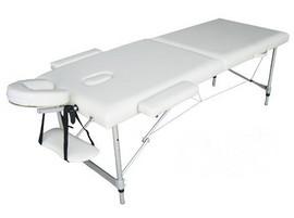 Poze Pat masaj 2 sectiuni - - masa masaj - structura Aluminiu Alb