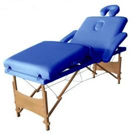 Poze Masa masaj plianta - 4 sectiuni Lemn Albastru