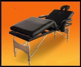 Poze Masa masaj plianta - 4 sectiuni Lemn Negru