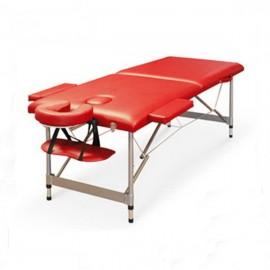 Poze Pat masaj 2 sectiuni - - masa masaj - structura Aluminiu Rosu