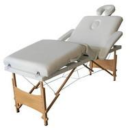 Masa masaj plianta - 4 sectiuni Lemn Alb