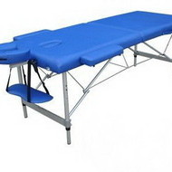 Pat masaj 2 sectiuni - - masa masaj - structura Aluminiu Albastru