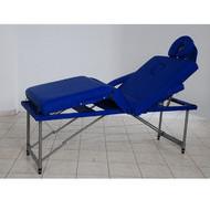 Masa masaj plianta - 4 sectiuni Aluminiu Albastru