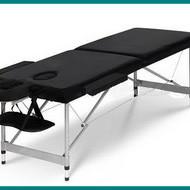 Pat masaj 2 sectiuni - - masa masaj - structura Aluminiu Negru