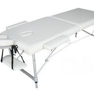 Pat masaj 2 sectiuni - - masa masaj - structura Aluminiu Alb