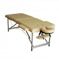 Pat masaj 2 sectiuni - - masa masaj - structura Aluminiu Crem