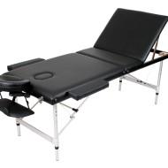 Masa masaj plianta - Aluminiu 3 Negru