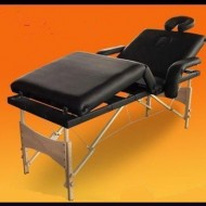 Masa masaj plianta - 4 sectiuni Lemn Negru