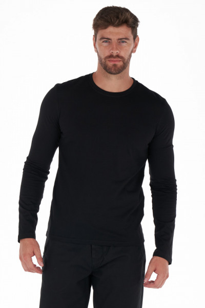 KVL - Bluza basic barbat din bumbac culoare uni