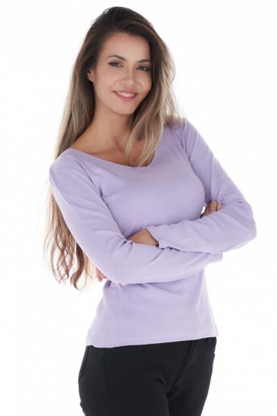 KVL - Bluza subtire dama de culoare uniforma