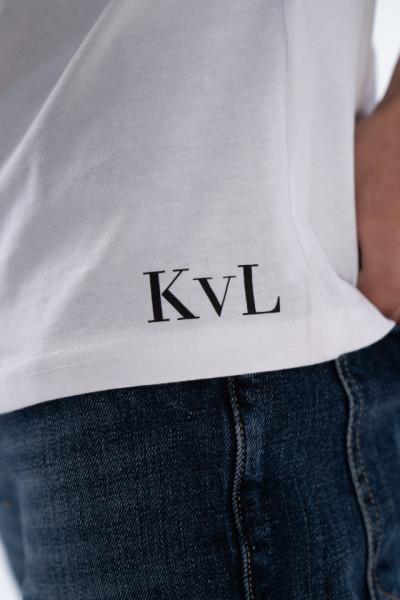 KVL - Tricou cu maneca scurta si detaliu logo