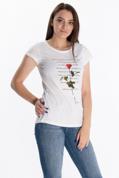 KVL - Tricou dama cu imprimeu text