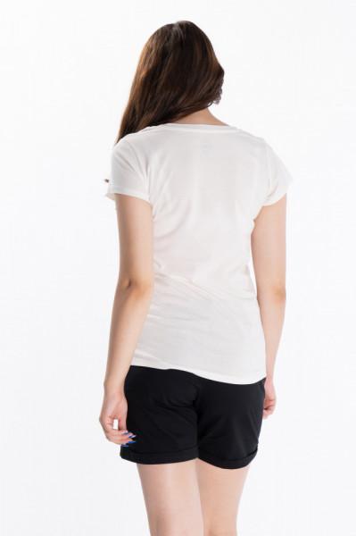 KVL - Tricou dama cu maneca scurta si imprimeu tropical
