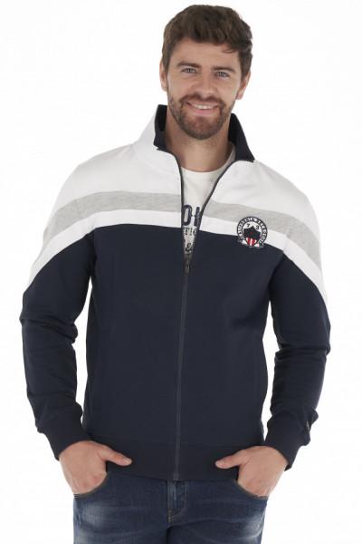 Timeout - Bluza barbat din bumbac cu fermoar