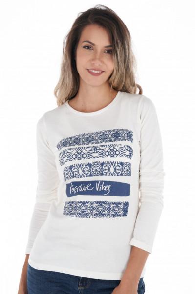 Timeout - Bluza dama cu maneca lunga din bumbac