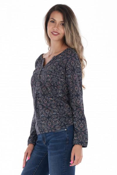 Timeout - Camasa dama tip tunica cu model imprimat