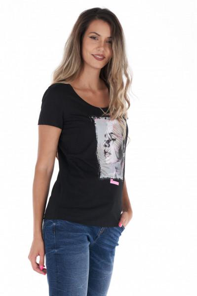 Timeout - Tricou dama din bumbac cu imprimeu artistic