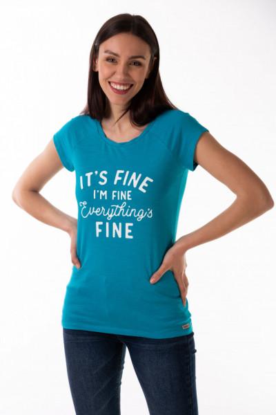 Timeout - Tricou dama din bumbac cu model imprimat