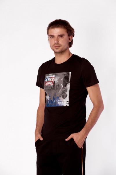 TRICOU MANECA SCURTA BARBAT BLACK KVL