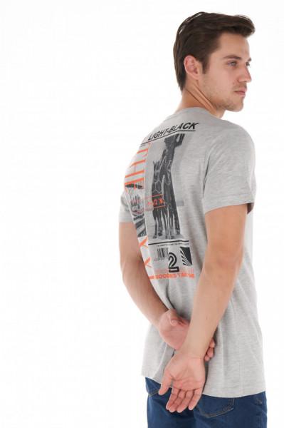 KVL - Tricou barbat cu maneca scurta si imprimeu artistic