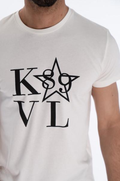 KVL - Tricou barbat cu maneca scurta si model logo